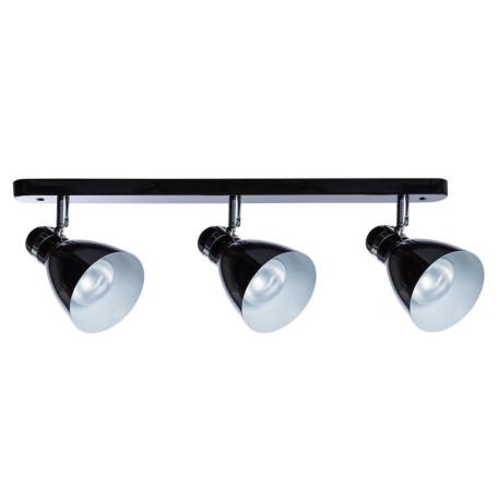 Настенный светильник с регулировкой направления света Arte Lamp MercoLED A5049PL-3BK, 3xE27x40W, черный, металл