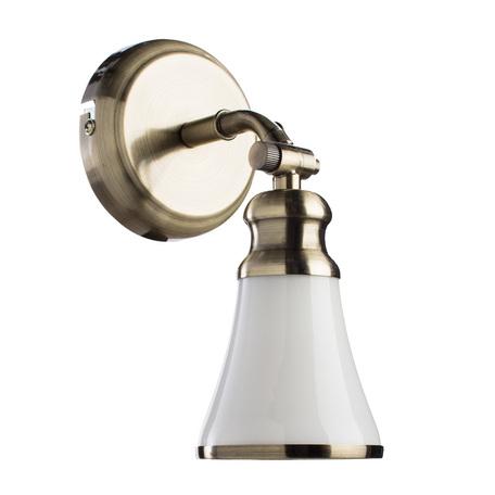 Настенный светильник с регулировкой направления света Arte Lamp Vento A9231AP-1AB, 1xE14x40W, бронза, металл, стекло