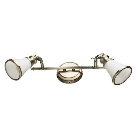 Настенный светильник с регулировкой направления света Arte Lamp Vento A9231AP-2AB, 2xE14x40W, бронза, металл, стекло
