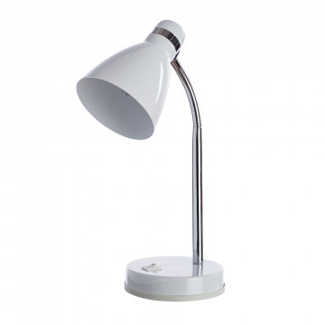Настольная лампа Arte Lamp MercoLED A5049LT-1WH, 1xE27x40W, белый с хромом, белый, металл