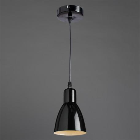Подвесной светильник Arte Lamp MercoLED A5049SP-1BK, 1xE27x40W, черный, металл