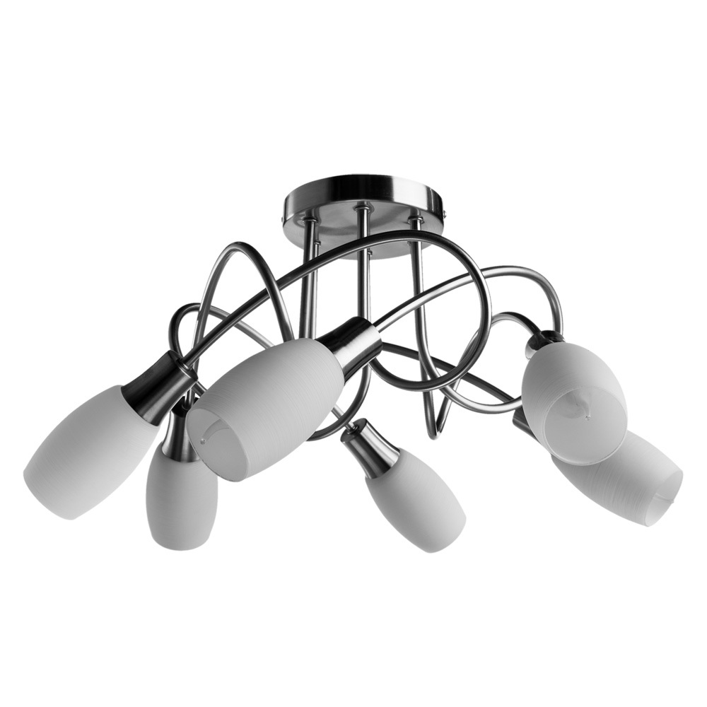 Потолочная люстра Arte Lamp Volare A4591PL-6SS, 6xE14x40W, серебро, белый, металл, стекло - фото 1