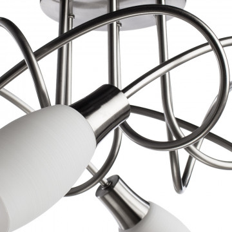 Потолочная люстра Arte Lamp Volare A4591PL-6SS, 6xE14x40W, серебро, белый, металл, стекло - миниатюра 3