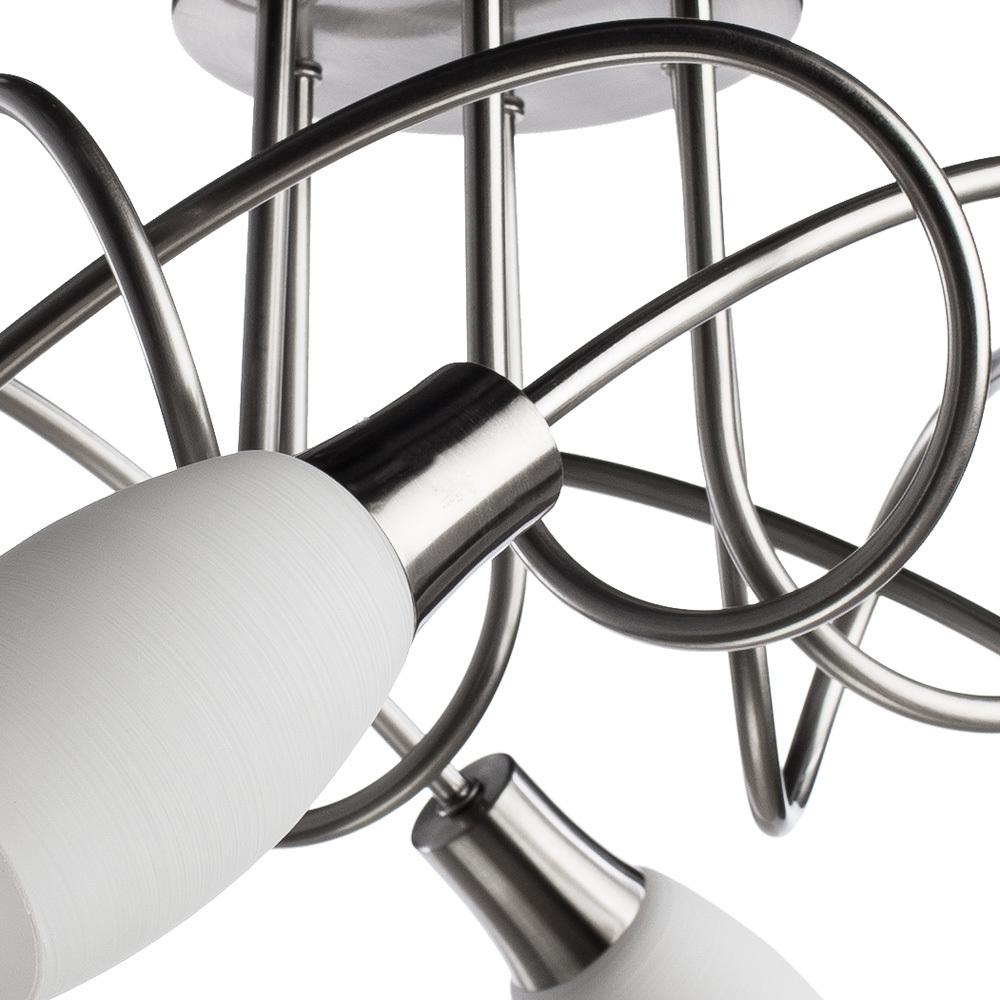 Потолочная люстра Arte Lamp Volare A4591PL-6SS, 6xE14x40W, серебро, белый, металл, стекло - фото 3