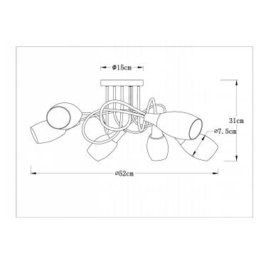 Схема с размерами Arte Lamp A4591PL-6SS