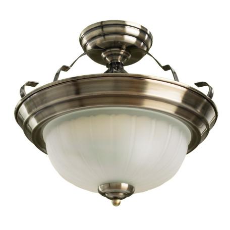 Потолочная люстра Arte Lamp Porch A7835PL-2AB, 2xE14x60W, бронза, белый, металл, стекло