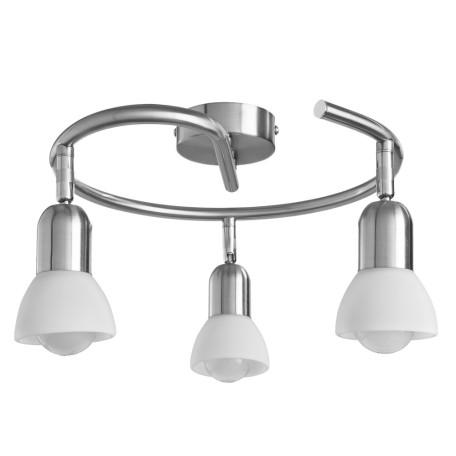 Потолочная люстра с регулировкой направления света Arte Lamp Falena A3115PL-3SS, 3xE14x40W, серебро, белый, металл, стекло