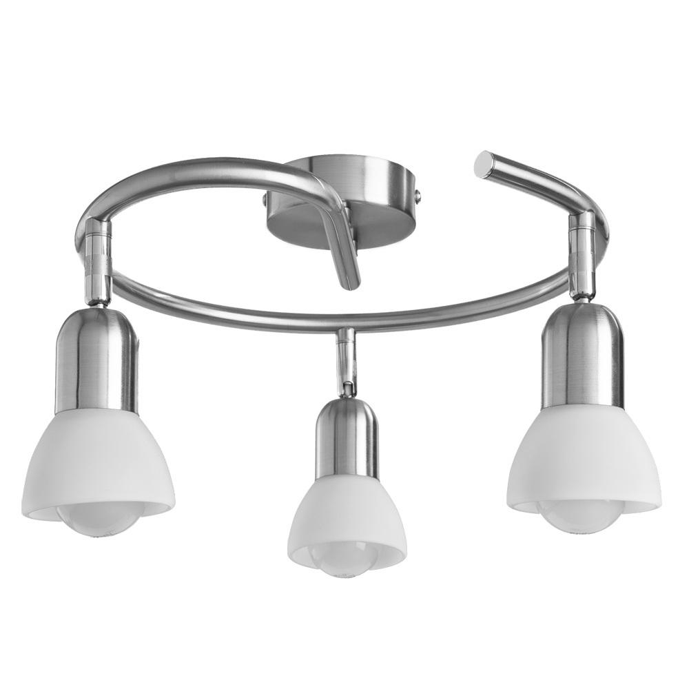 Потолочная люстра с регулировкой направления света Arte Lamp Falena A3115PL-3SS, 3xE14x40W, серебро, белый, металл, стекло - фото 1
