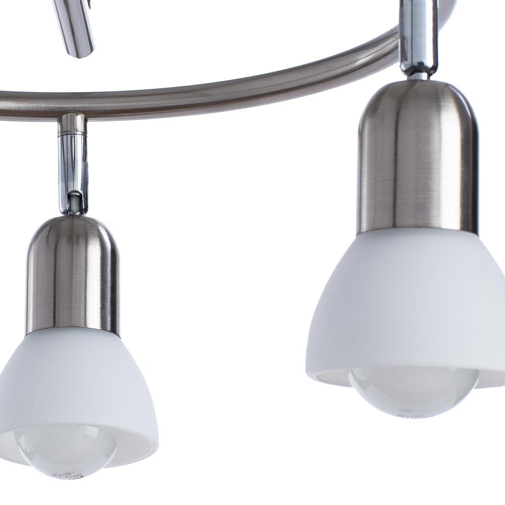 Потолочная люстра с регулировкой направления света Arte Lamp Falena A3115PL-3SS, 3xE14x40W, серебро, белый, металл, стекло - фото 3