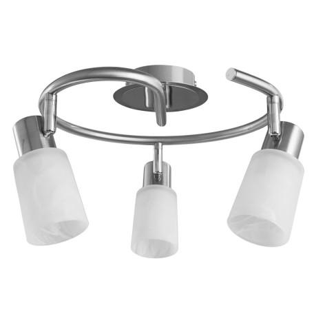 Потолочная люстра с регулировкой направления света Arte Lamp Cavalletta A4510PL-3SS, 3xE14x40W, хром, белый, металл, стекло