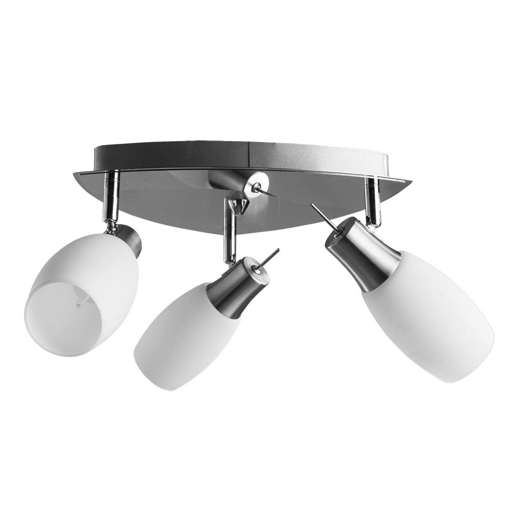 Потолочная люстра с регулировкой направления света Arte Lamp Volare A4590PL-3SS, 3xE14x40W, хром, белый, металл, стекло - фото 1