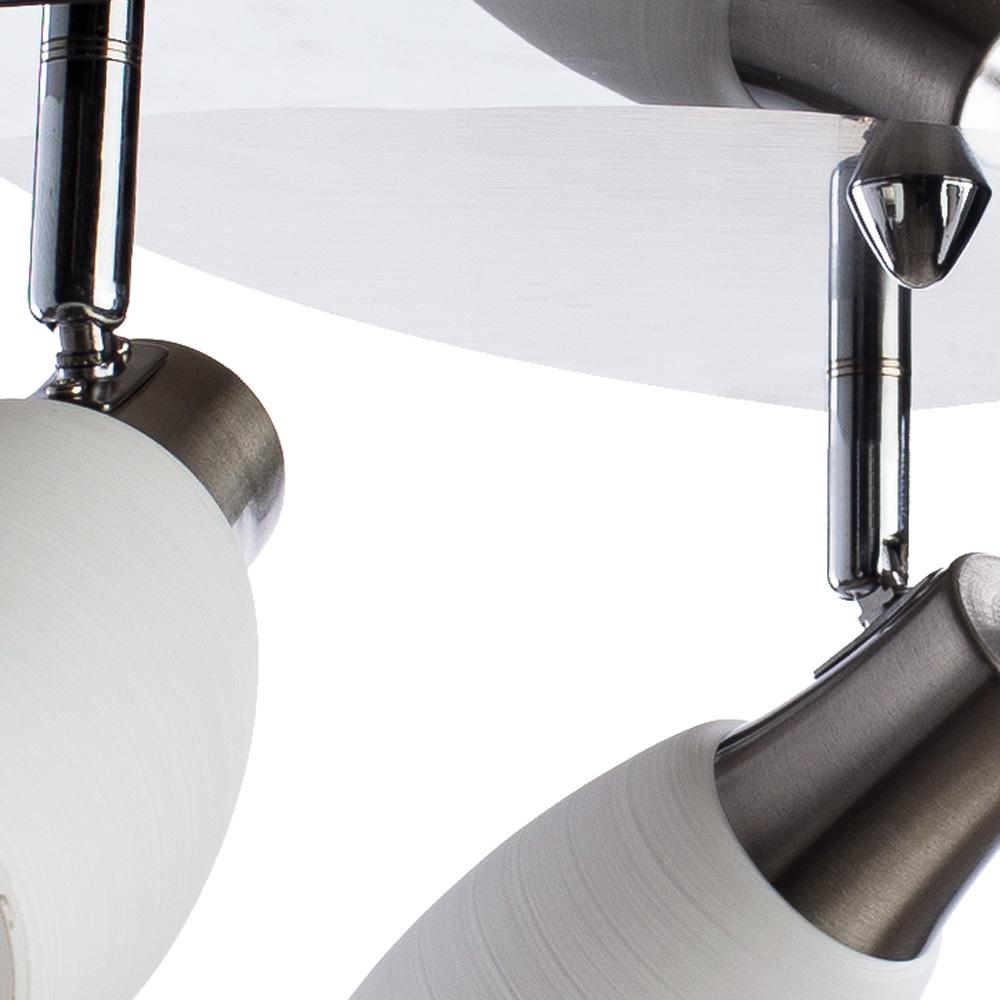 Потолочная люстра с регулировкой направления света Arte Lamp Volare A4590PL-3SS, 3xE14x40W, хром, белый, металл, стекло - фото 3