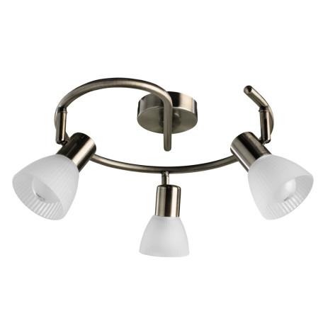 Потолочная люстра с регулировкой направления света Arte Lamp Parry A5062PL-3AB, 3xE14x40W, бронза, белый, металл, стекло
