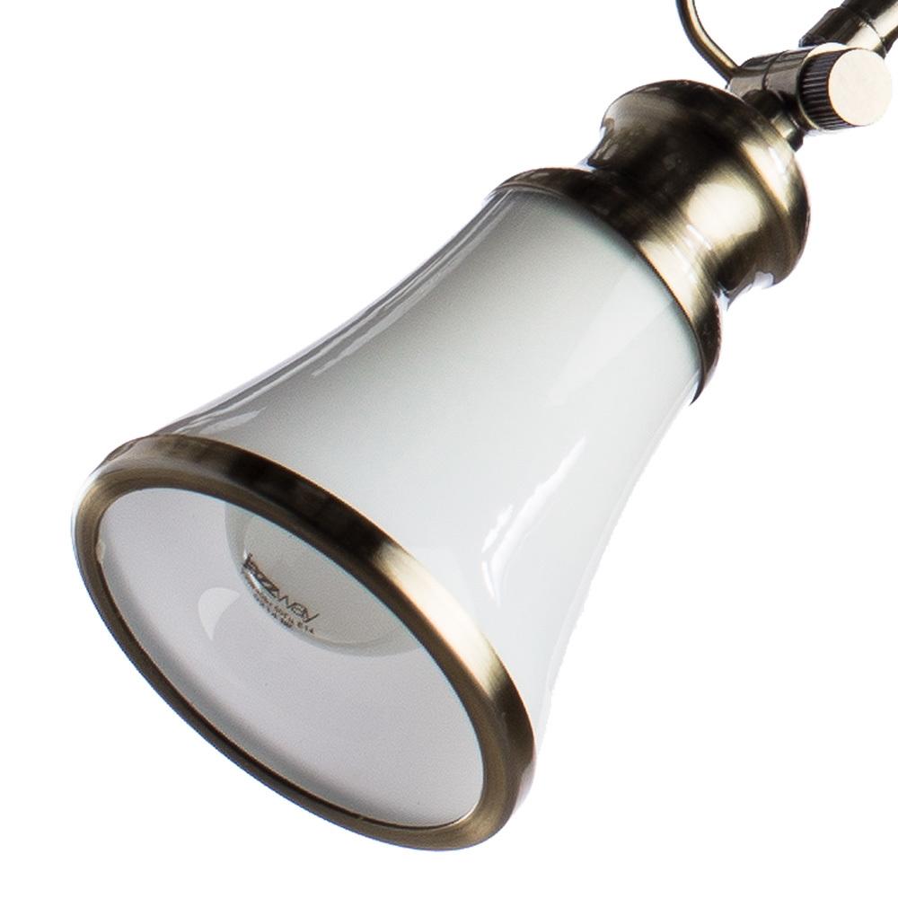 Потолочная люстра с регулировкой направления света Arte Lamp Vento A9231PL-3AB, 3xE14x40W, бронза, белый, металл, стекло - фото 4