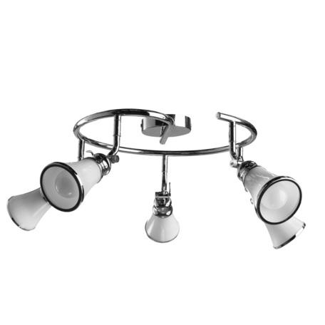 Потолочная люстра с регулировкой направления света Arte Lamp Vento A9231PL-5CC, 5xE14x40W, хром, металл, стекло - миниатюра 1