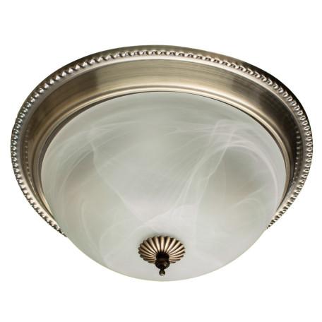 Потолочный светильник Arte Lamp Porch A1305PL-2AB, 2xE27x60W, бронза, белый, металл, стекло
