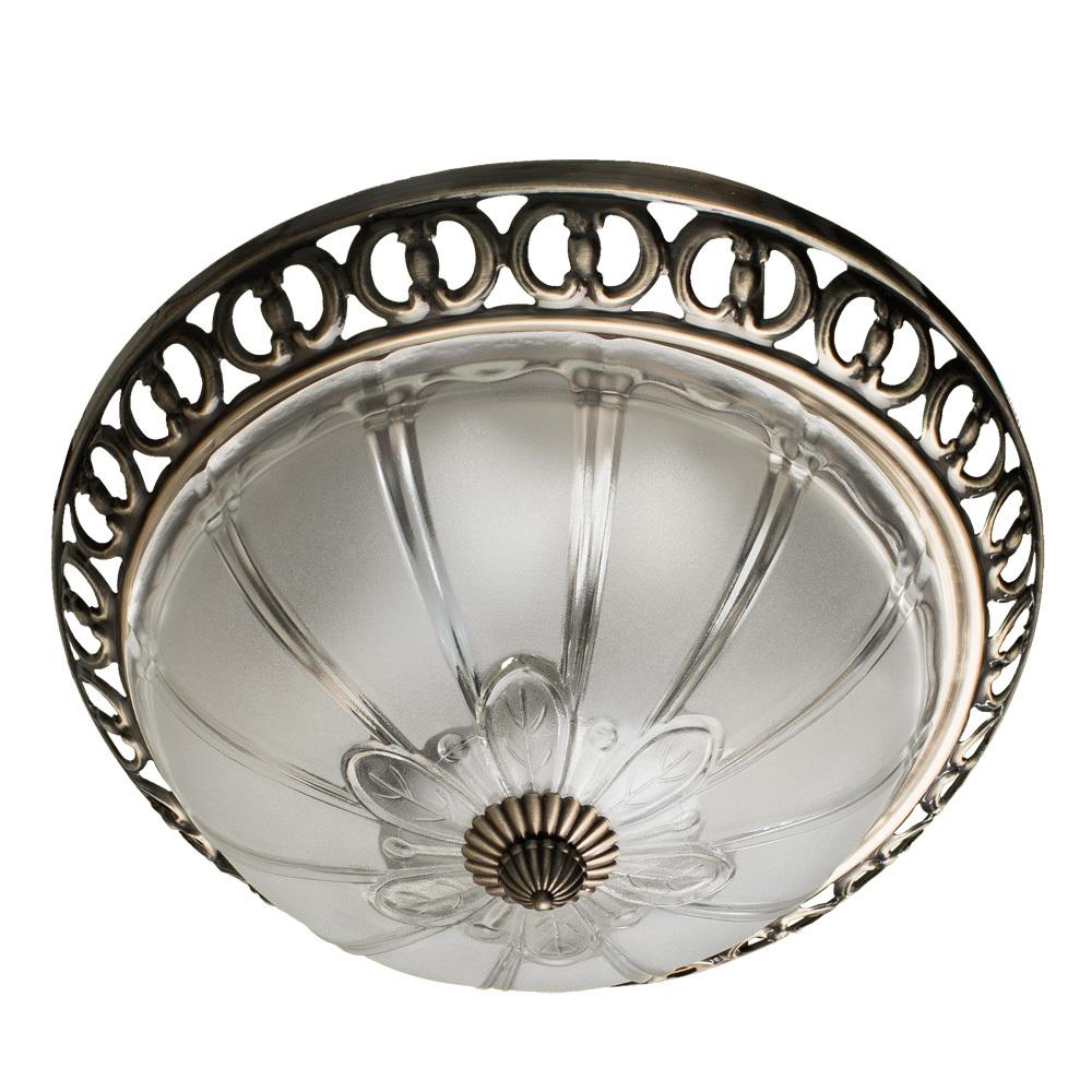 Потолочный светильник Arte Lamp Porch A1306PL-2AB, 2xE27x60W, бронза, белый, металл, стекло - фото 1