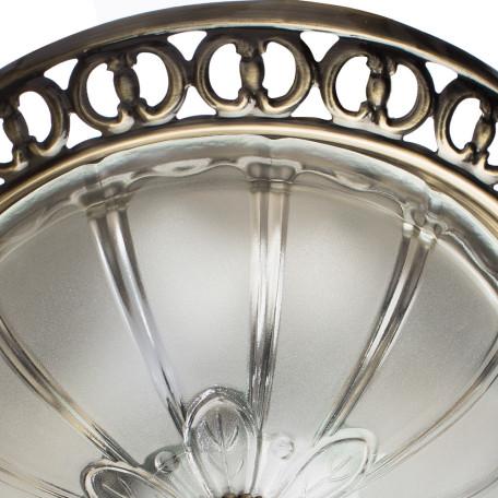 Потолочный светильник Arte Lamp Porch A1306PL-2AB, 2xE27x60W, бронза, белый, металл, стекло - миниатюра 3
