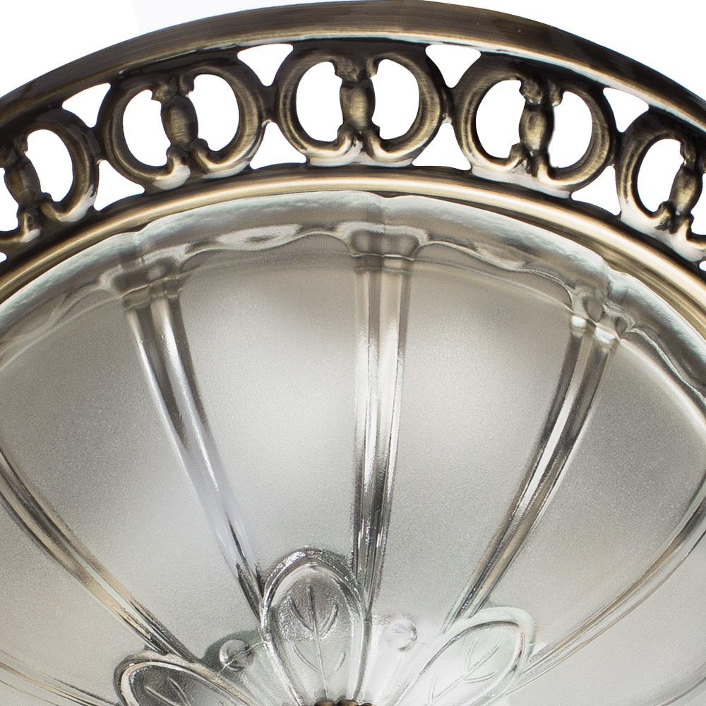 Потолочный светильник Arte Lamp Porch A1306PL-2AB, 2xE27x60W, бронза, белый, металл, стекло - фото 3