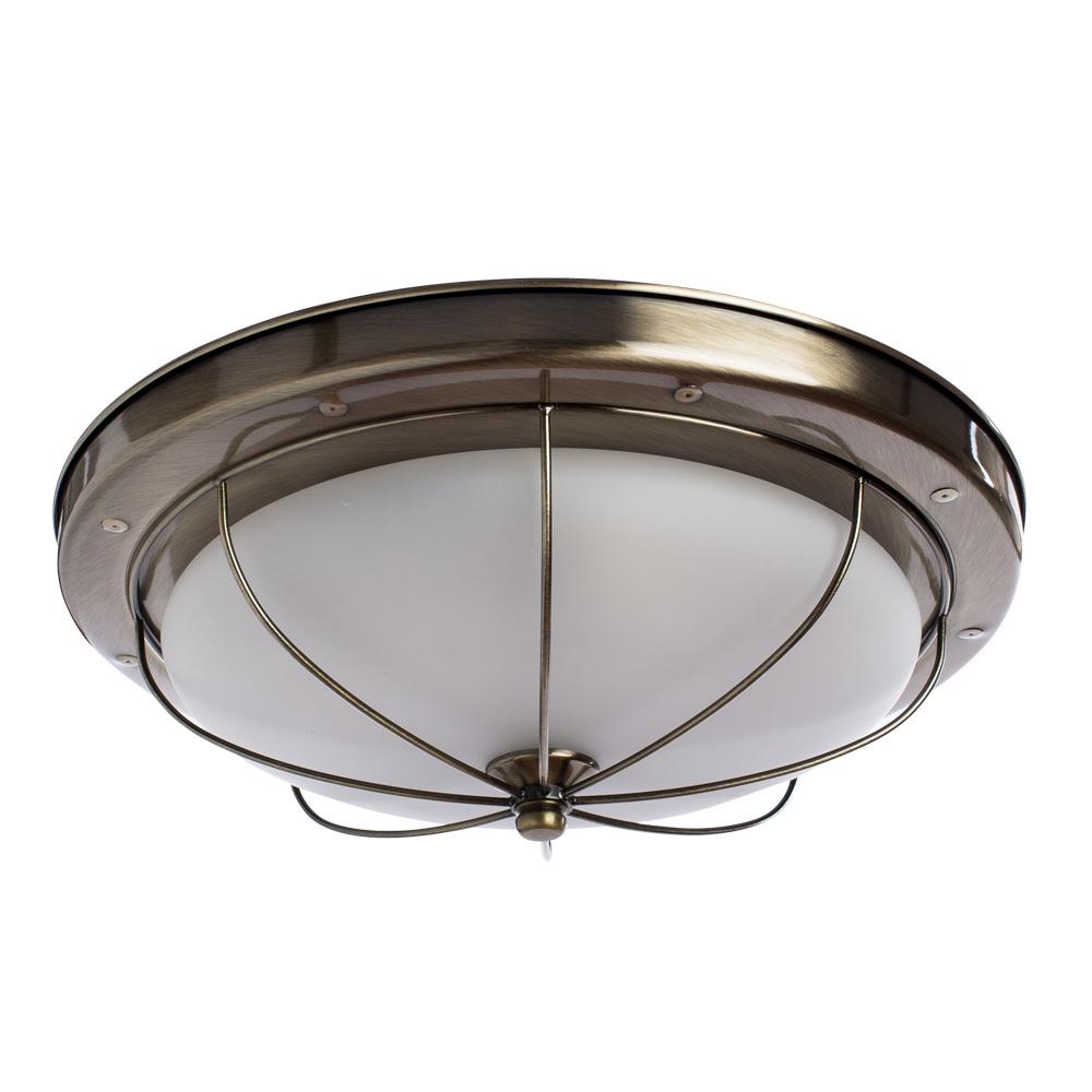 Потолочный светильник Arte Lamp Porch A1308PL-3AB, 3xE27x60W, бронза, белый, металл, стекло - фото 1