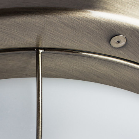 Потолочный светильник Arte Lamp Porch A1308PL-3AB, 3xE27x60W, бронза, белый, металл, стекло - миниатюра 3