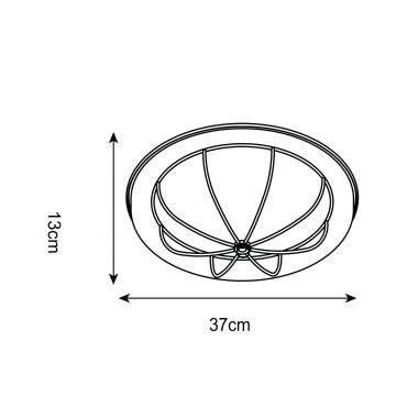 Схема с размерами Arte Lamp A1308PL-3AB
