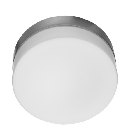 Потолочный светильник Arte Lamp Aqua A3211PL-1SI, IP44, 1xE27x60W, серебро, белый, металл, стекло
