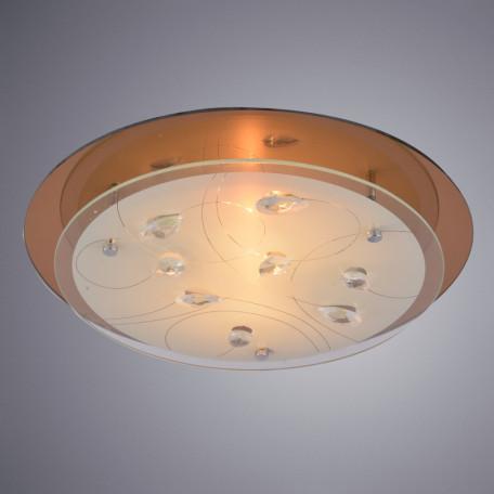 Потолочный светильник Arte Lamp Tiana A4043PL-2CC, 2xE27x60W, хром, белый, прозрачный, металл, стекло