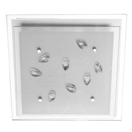 Потолочный светильник Arte Lamp Snow White A4058PL-2CC, 2xE27x60W, хром, матовый, прозрачный, металл, стекло