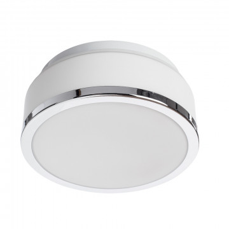 Потолочный светильник Arte Lamp Aqua A4440PL-1CC, IP44, 1xE27x40W, хром, белый, металл, стекло