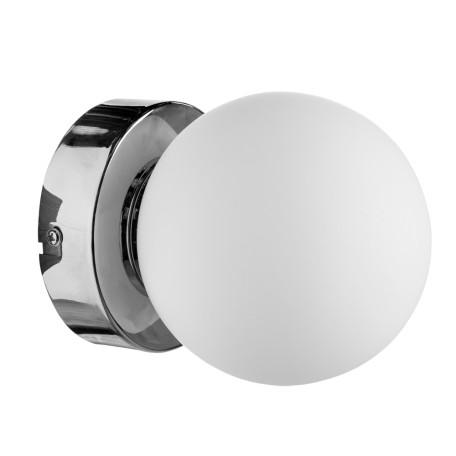 Потолочный светильник Arte Lamp Aqua A4445AP-1CC, IP44, 1xG9x33W, хром, белый, металл, стекло