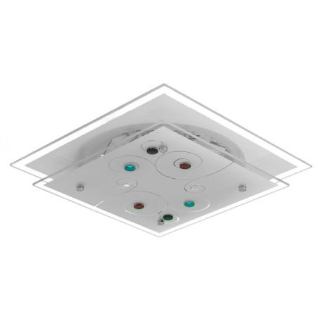 Потолочный светильник Arte Lamp Esmeralda A4814PL-2CC, 2xE27x60W, хром, белый, разноцветный, металл, стекло