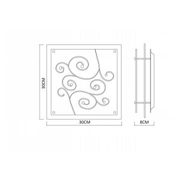 Схема с размерами Arte Lamp A4814PL-2CC