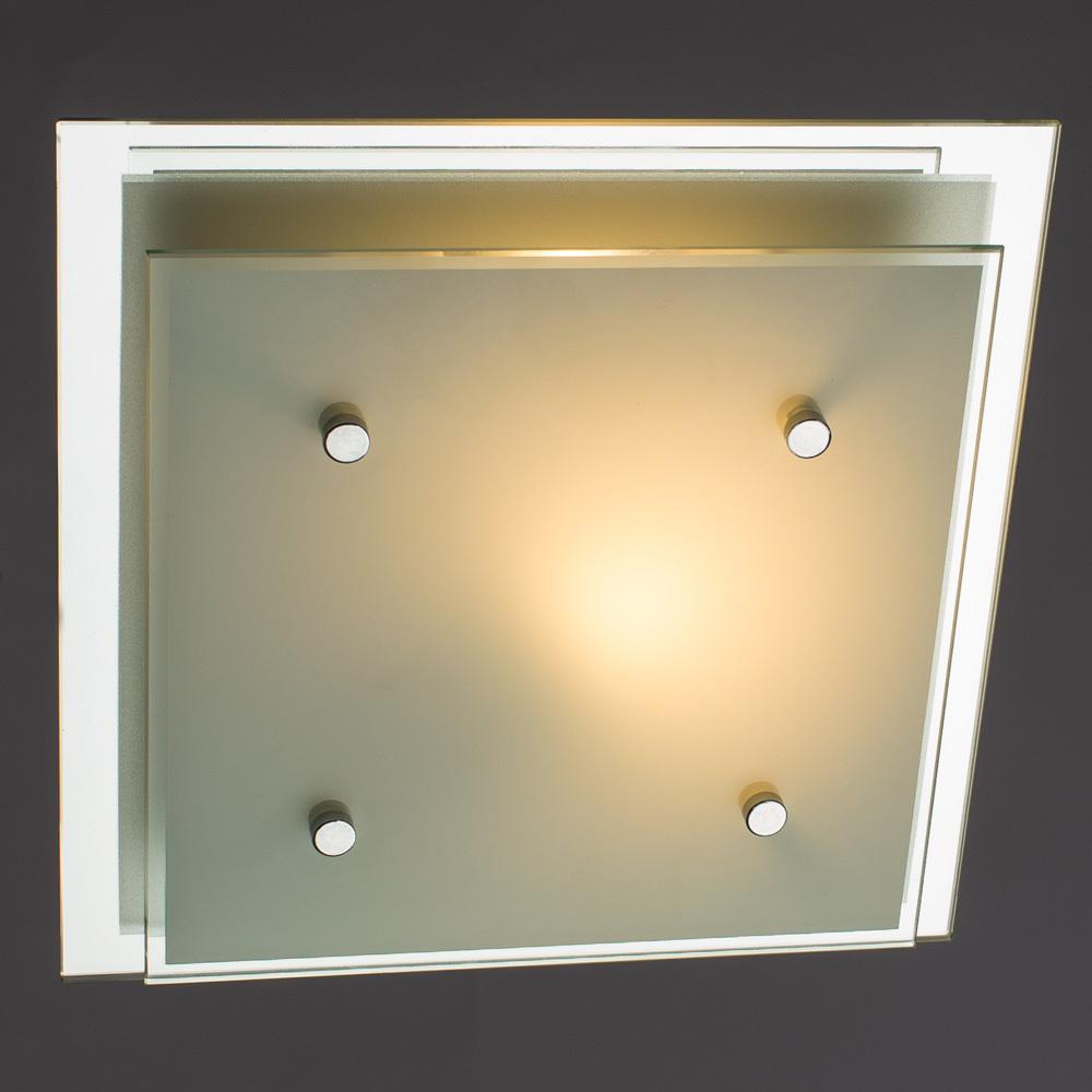 Потолочный светильник Arte Lamp Rapunzel A4868PL-1CC, 1xE27x60W, хром, белый, металл, стекло - фото 2