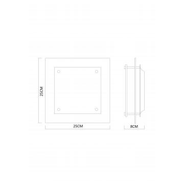 Схема с размерами Arte Lamp A4868PL-1CC