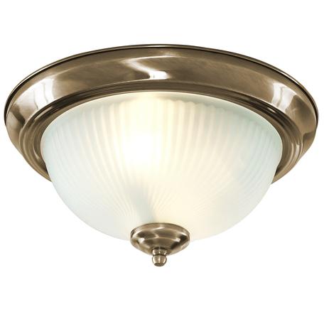 Потолочный светильник Arte Lamp Porch A7834PL-2AB, 2xE14x60W, бронза, белый, металл, стекло
