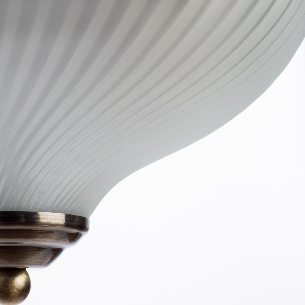 Потолочный светильник Arte Lamp Aqua A9370PL-2AB, IP44, 2xE14x60W, бронза, белый, металл, стекло - фото 3