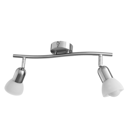 Потолочный светильник с регулировкой направления света Arte Lamp Falena A3115PL-2SS, 2xE14x40W, серебро, белый, металл, стекло