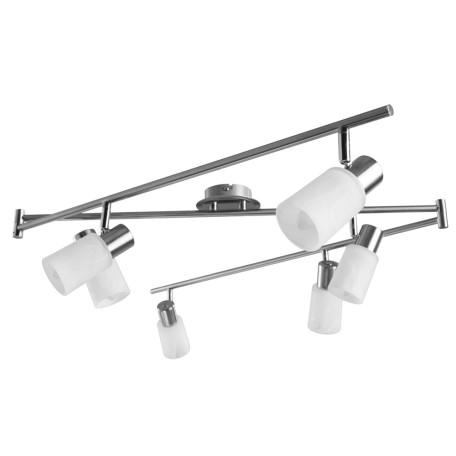 Потолочный светильник с регулировкой направления света Arte Lamp Cavalletta A4510PL-6SS, 6xE14x40W, хром, белый, металл, стекло