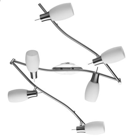 Потолочный светильник с регулировкой направления света Arte Lamp Volare A4590PL-6SS, 6xE14x40W, серебро, белый, металл, стекло