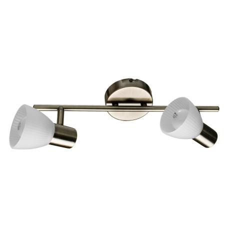 Потолочный светильник с регулировкой направления света Arte Lamp Parry A5062AP-2AB, 2xE14x40W, бронза, белый, металл, стекло
