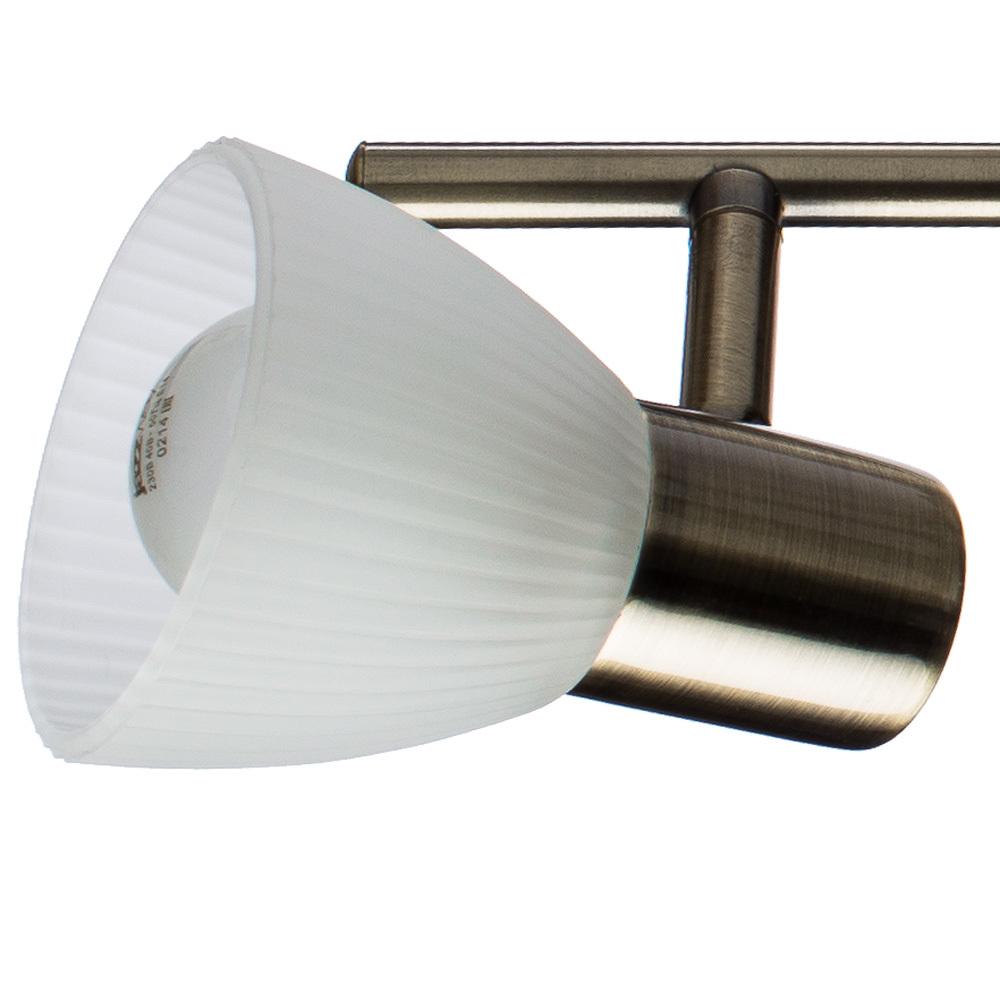 Потолочный светильник с регулировкой направления света Arte Lamp Parry A5062AP-2AB, 2xE14x40W, бронза, белый, металл, стекло - фото 3