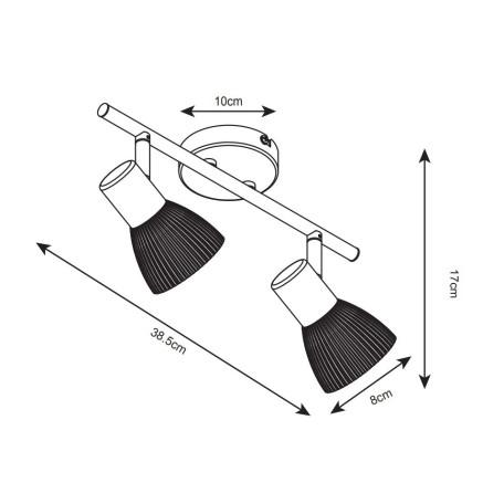 Схема с размерами Arte Lamp A5062AP-2AB
