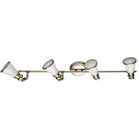 Потолочный светильник с регулировкой направления света Arte Lamp Vento A9231PL-4AB, 4xE14x40W, бронза, металл, стекло