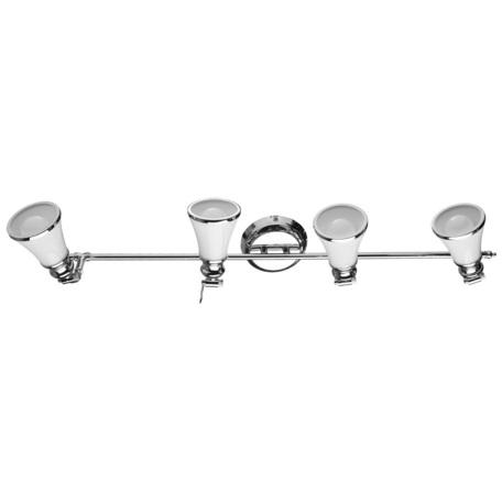 Потолочный светильник с регулировкой направления света Arte Lamp Vento A9231PL-4CC, 4xE14x40W, хром, белый, металл, стекло