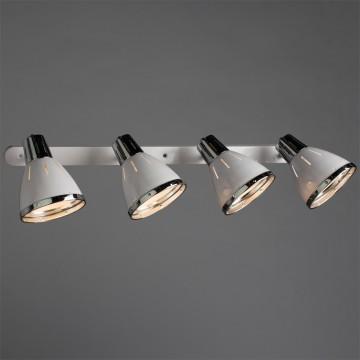 Настенный светильник с регулировкой направления света Arte Lamp Marted A2215PL-4WH, 4xE27x40W, белый, хром, металл