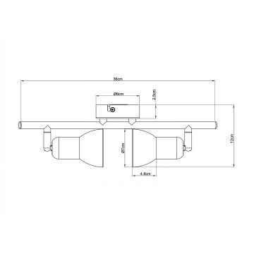 Потолочный светильник с регулировкой направления света Arte Lamp Falena A3115PL-2SS, 2xE14x40W, серебро, белый, металл, стекло - миниатюра 4