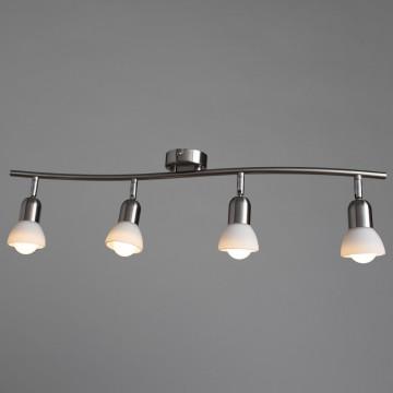 Потолочный светильник с регулировкой направления света Arte Lamp Falena A3115PL-4SS, 4xE14x40W, серебро, белый, металл, стекло