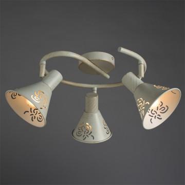 Потолочная люстра с регулировкой направления света Arte Lamp Cono A5218PL-3WG, 3xE14x40W, белый с золотой патиной, металл