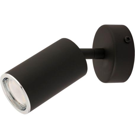 Настенный светодиодный светильник с регулировкой направления света Kutek Mood Desio DES-K-1(CC), LED 4,5W, черный, металл